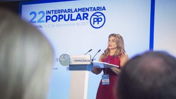 Eva Ortiz en la Interparlamentaria del PP