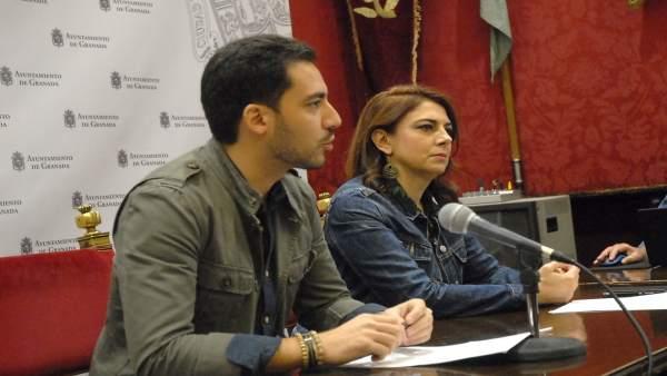 Los concejales Eduardo Castillo y Raquel Ruz