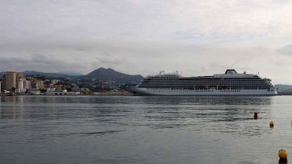 Viking Sun en el puerto de Málaga