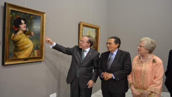 El presidente del Ateneo, Alberto Máximo Pérez Calero, y Mariano Bellver
