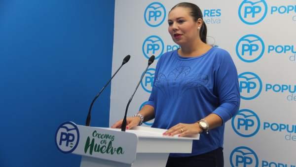 La vicesecretaria de Organización del PP de Huelva, Rocío Moreno.