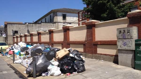 Huelga de la basura en Lugo