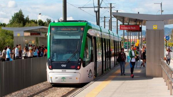Una de las estaciones del metro de Málaga.