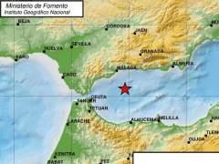 Mapa del epicentro del terremoto