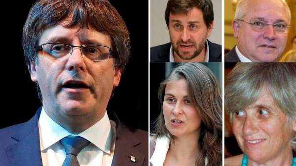 Puigdemont y exconsellers huidos