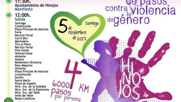 Cartel de la I Marcha Solidaria de Hinojos