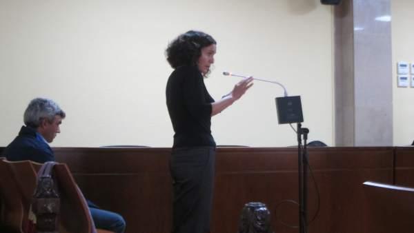 La acusada durante el juicio en la Audiencia de Jaén