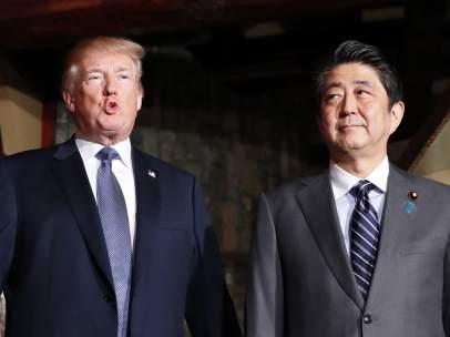 Shinzo Abe y Donald Trump