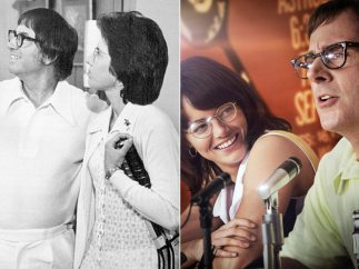 Billie Jean King / Bobby Riggs - Emma Stone / Steve Carell (La batalla de los sexos)
