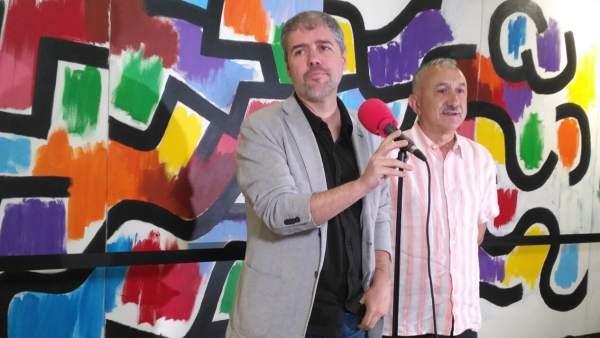 Los secretarios generales de CC.OO. Y UGT, Unai Sordo y Pepe Álvarez