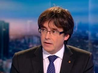 Puigdemont en la entrevista de la RTBF.