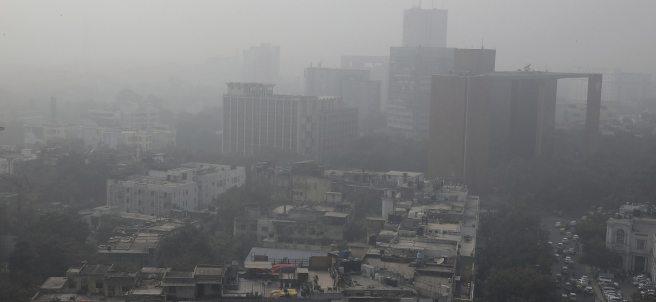 Contaminación sobre Nueva Delhi