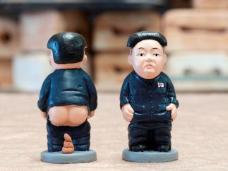 Kim Jong-un, en versión 'caganer'