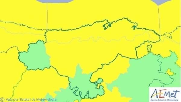 Mapa de avisos en Cantabria para este miércoles