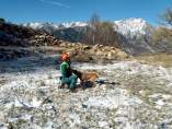 Jornada en el Ampriu para mejorar el rescate con perros