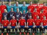 Jugadores de España con la camiseta