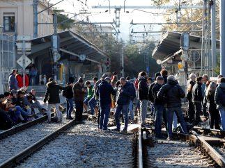 Corte del tráfico ferroviario
