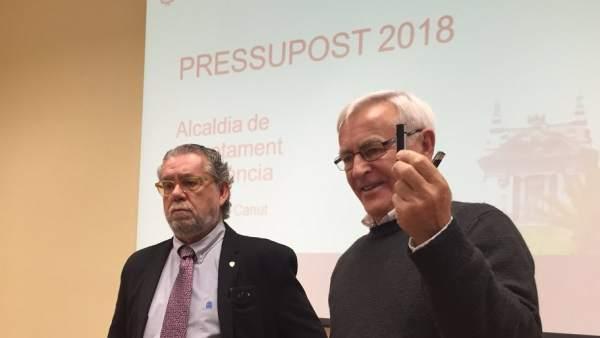 Presentación de los presupuestos municipales de València para 2018