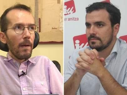 Pablo Echenique y Alberto Garzón.