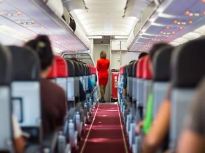 Pasajeros en un avión