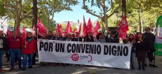 Movilización por un convenio de comercio digno para la provincia de Sevilla