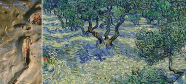 Saltamontes en una pintura de Van Gogh