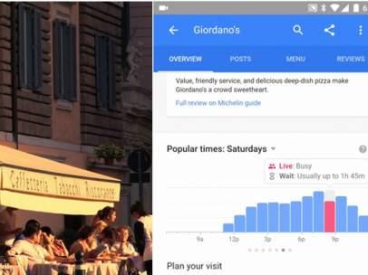 Google y restaurantes