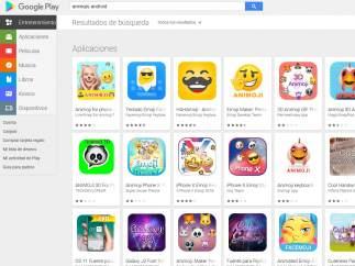 Búsqueda de animojis para Android