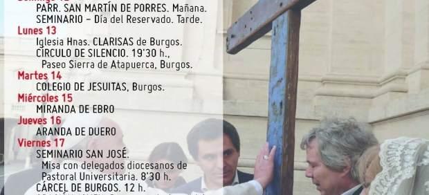 Burgos: Programa de la Cruz de lamepdusa en Burgos