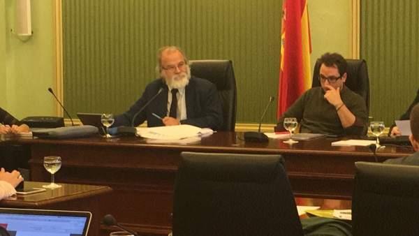 Andreu Manresa en comisión parlamentaria