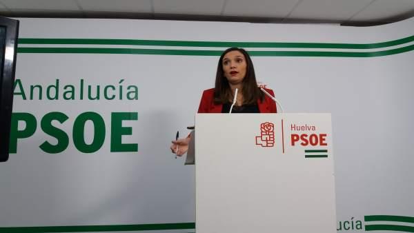 La parlamentaria andaluza por el PSOE de Huelva, María Márquez.