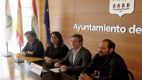 Los concejales de Ciudadanos en Logroño en octubre de 2017