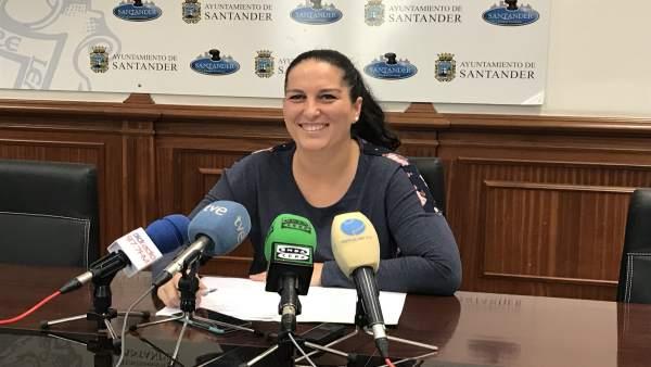 Cora Vielva, concejala no adscrita del Ayuntamiento de Santander