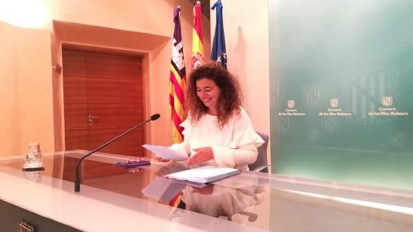 Pilar Costa Tras El Consell De Govern
