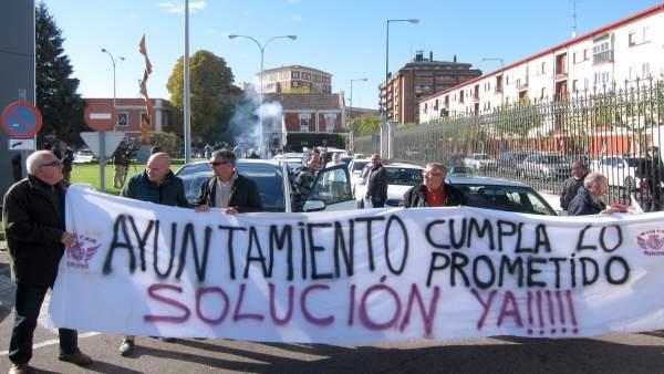 Manifestación de taxistas autónomos en Valladolid