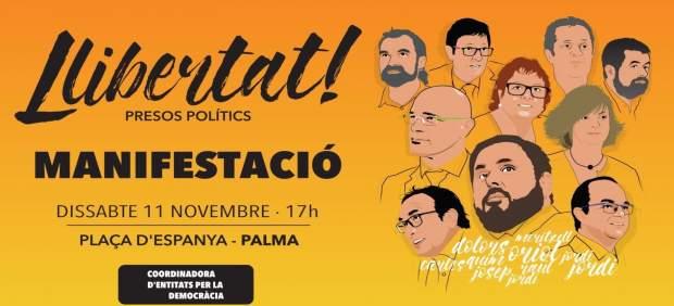 Cartel nueva manifestación convocada en Palma