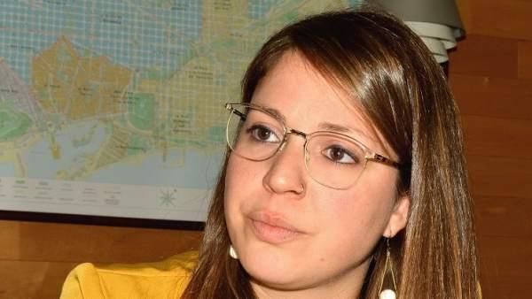 Janet Sanz, regidora de urbanismo, movilidad y ecologia del ayuntamiento de Barcelona.