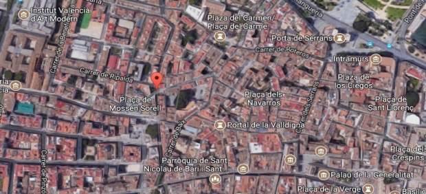 Detingut un home a València per agredir la seua dona en el carrer i per presumptes maltractaments amb anterioritat
