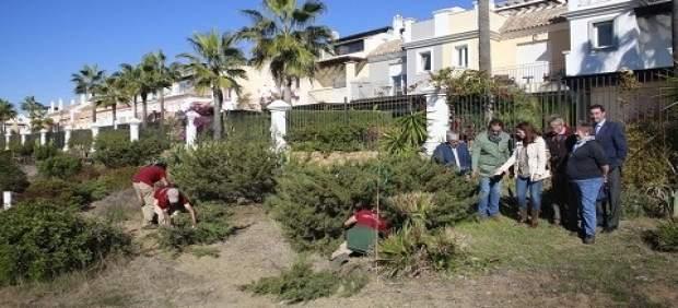 Diputación trasplante dunas adelfa marbella senda litoral mejora protección espe
