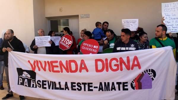 Desalojo en Sevilla Este