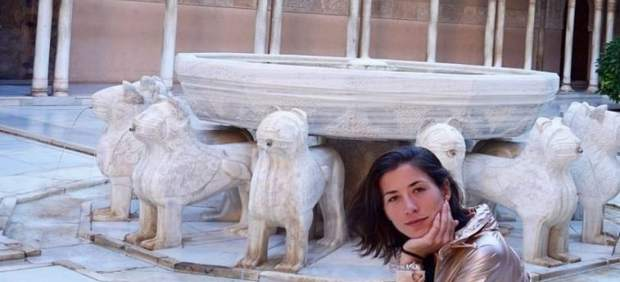 Garbiñe Muguruza en el Patio de los Leones de la Alhambra