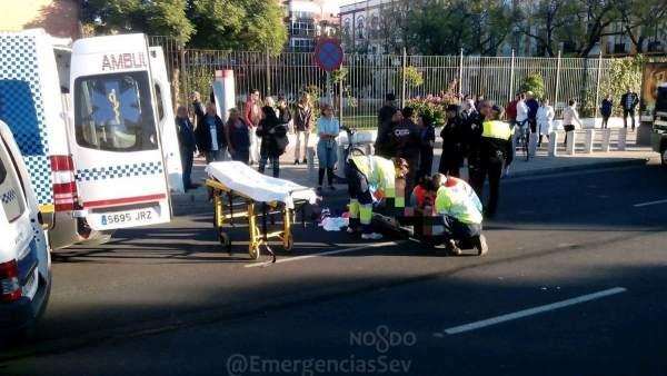 Atropello en la calle San Juan de Ribera