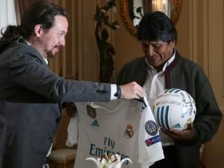 Evo Morales recibe a Pablo Iglesias