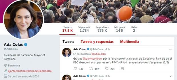 Twitter Ada Colau