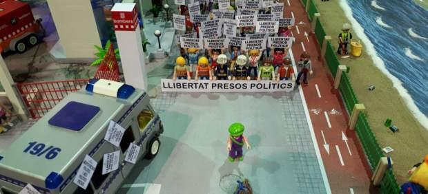 Maqueta de clicks de una manifestación
