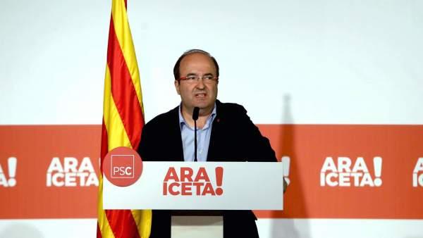 Iceta propone una Hacienda federal catalana