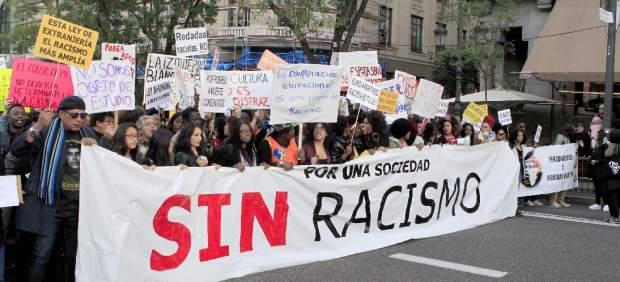 Manifestación en contra del racismo.