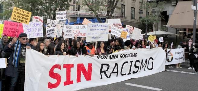 Manifestación en contra del racismo