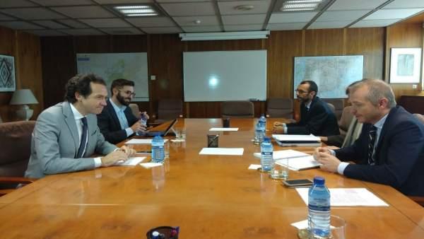 Marc Pons y Joan Groizard en la reunión con el Ministerio sobre Es Murterar