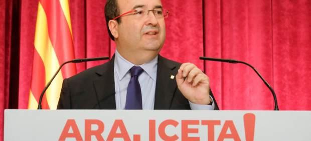 El primer secretario y candidato de los socialistas catalanes, Miquel Iceta.